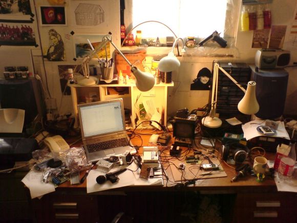 Sam's Desk at Concept Shed