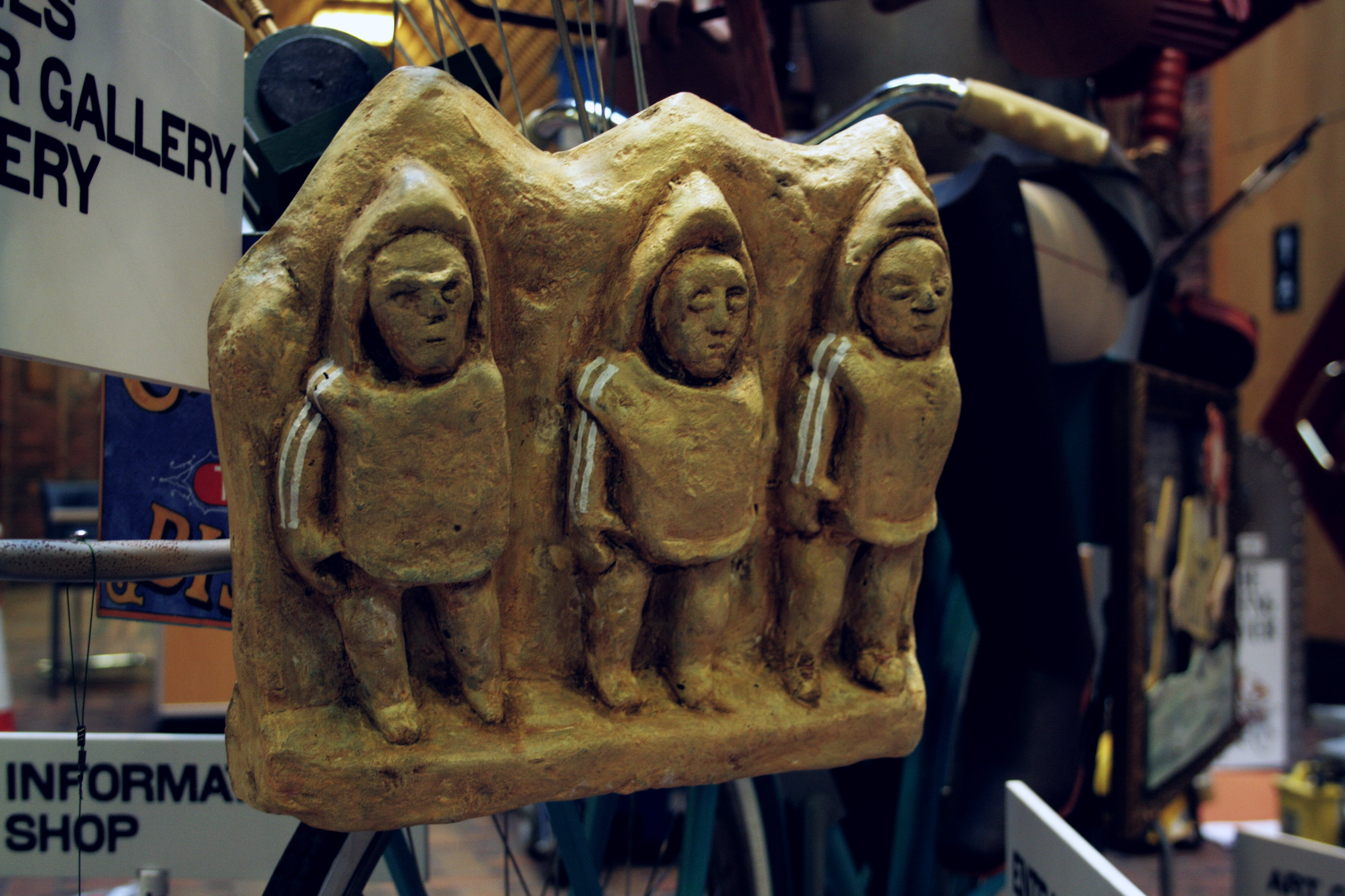 The Flying Reiver's three hoodies - based on a real Roman statue, we made ours in resin and includes some hoody stripes.